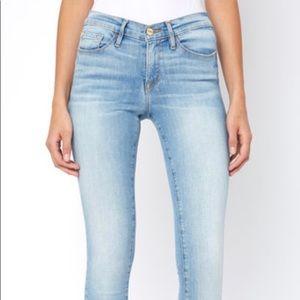 """Denim - FRAME """"Le Skinny de Jeanne"""" jeans in light denim"""